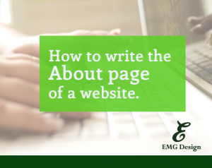 How to write the About page of a website.