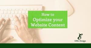Optimizing your Website Content