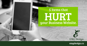 5 Items that HURT your website
