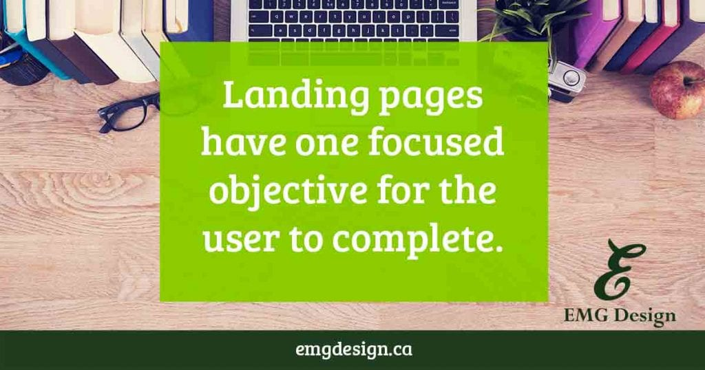 Goals for Landing pages