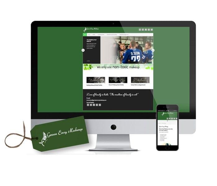 Green Envy Makeup Logo & Responsive Web Site