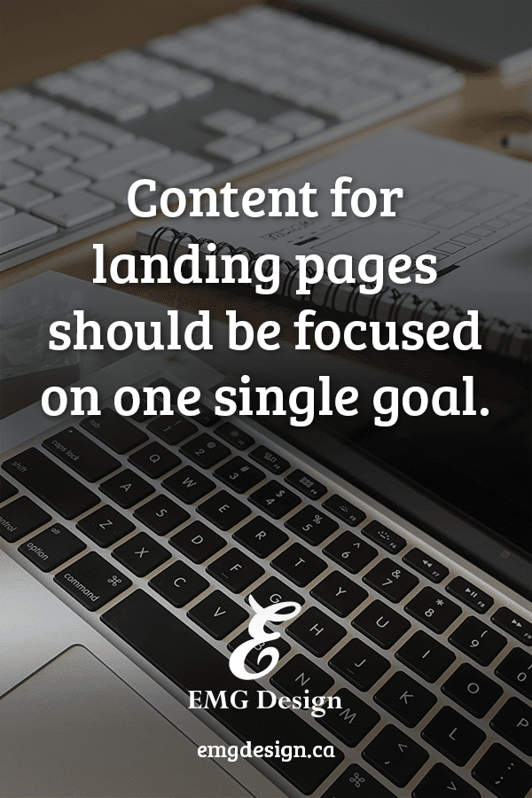 Landing pages for Service Providers